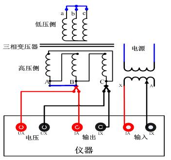 变压器测试试验路阻抗测试仪接线图