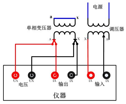 单相变压器试验接线图